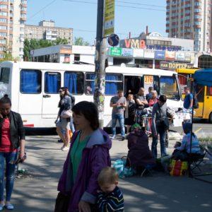 Metro / bus stop Kiev