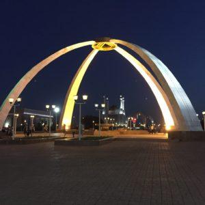 Plein bij nacht Aktobe