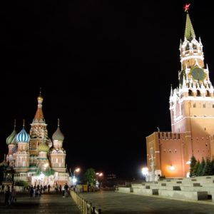 Red square by night