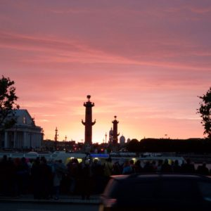 Zonsondergang St. Petersburg