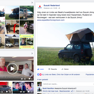 Facebook post Suzuki Nederland