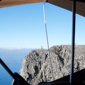 Uitzicht uit de tent